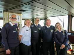 Watch keepers on Red Funnel Ferry